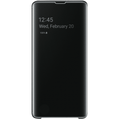 Galaxy S10 Plus Clear View Case - Black
